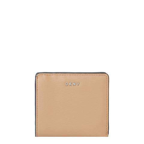 DKNY Beige Bryant Bi Fold Small Wallet