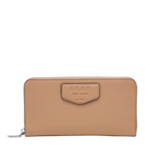 DKNY Beige Sullivan Zip Around Wallet