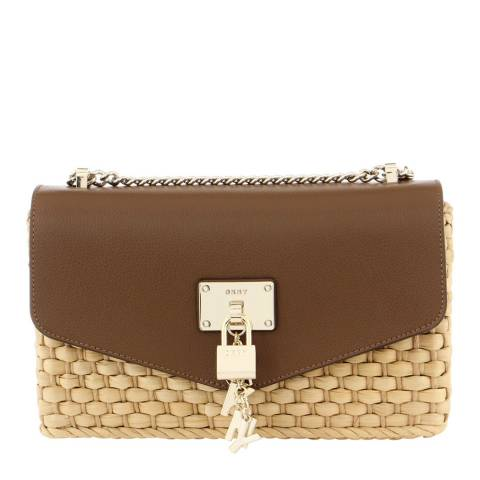 DKNY Tan Elissa Large Shoulder Bag