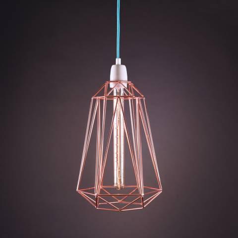 Filament Style Diamond 5 Bronze Pendant Light