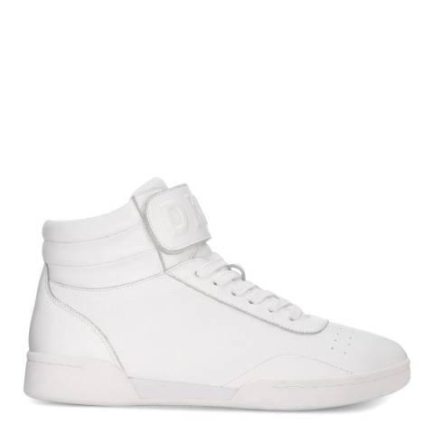 DKNY White Wesli Hi Top Sneaker
