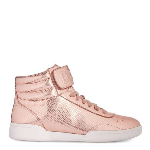 DKNY Rose Gold Wesli Hi Top Sneaker
