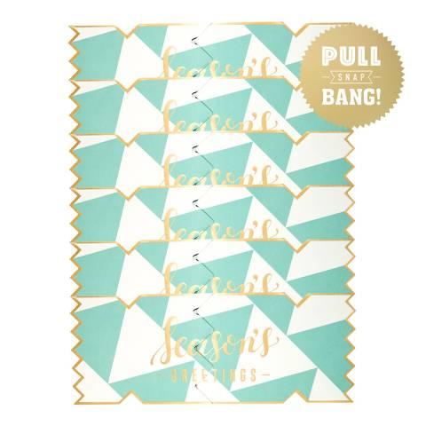 Cracker Cards Set of 6 Bold & Bright Tree Cracker Cards
