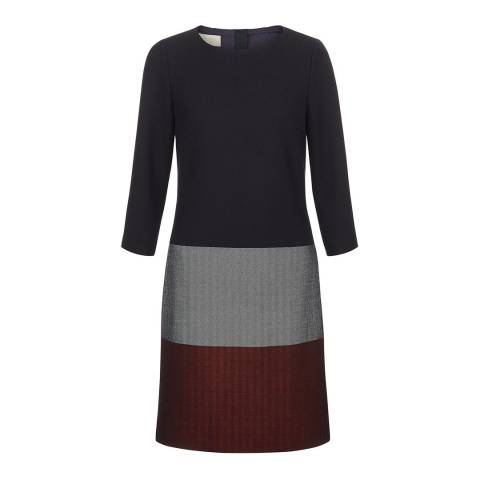 Hobbs London Navy Simone Colour Block Dress