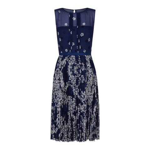 Hobbs London Dark Blue Georgina Dress