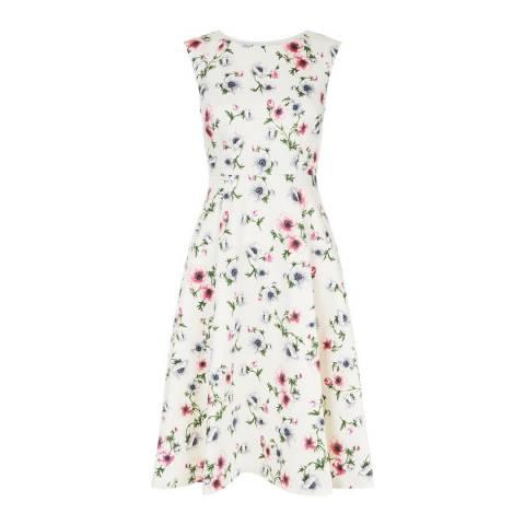 Hobbs London Ivory Floral Nova Dress