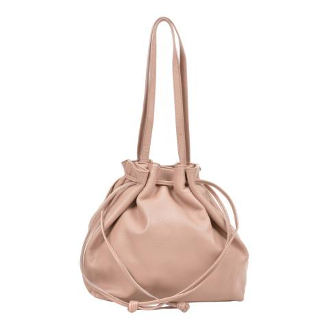 Mangotti Blush Leather Shoulder Bag