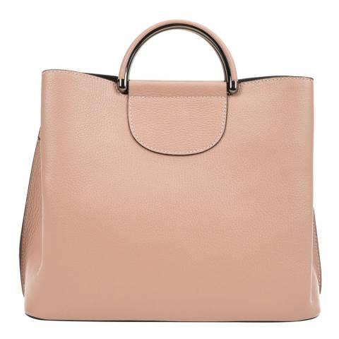 Mangotti Blush Leather Top Handle Bag