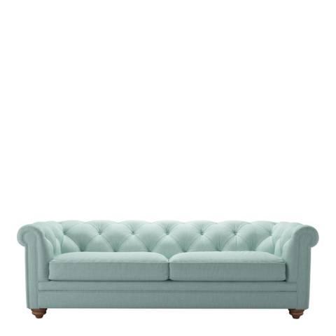 sofa.com Patrick 3 Seat Sofa in Cambridge Blue Pure Belgian Linen