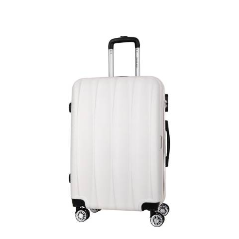 Travel One Beige 8 Wheel Suitcase 57cm