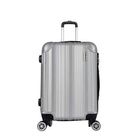 Travel One Silver 8 Wheel Cabin Suitcase