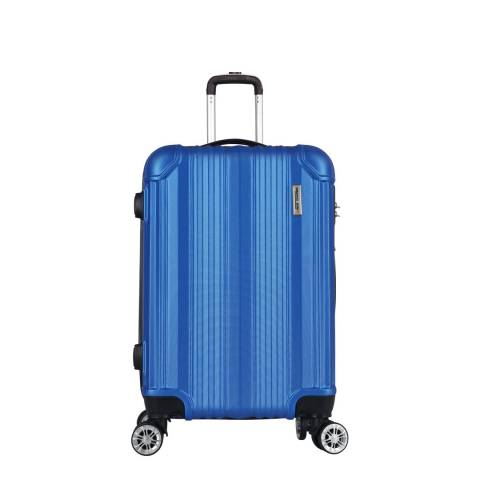 Travel One Blue 8 Wheel Cabin Suitcase