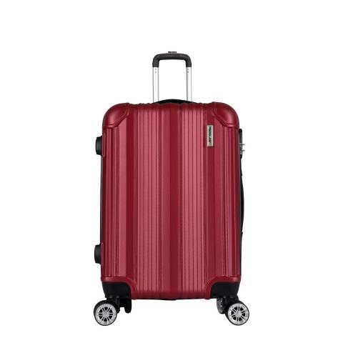 Travel One Burgundy 8 Wheel Cabin Suitcase
