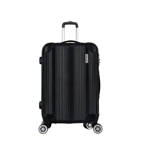 Travel One Black 8 Wheel Cabin Suitcase
