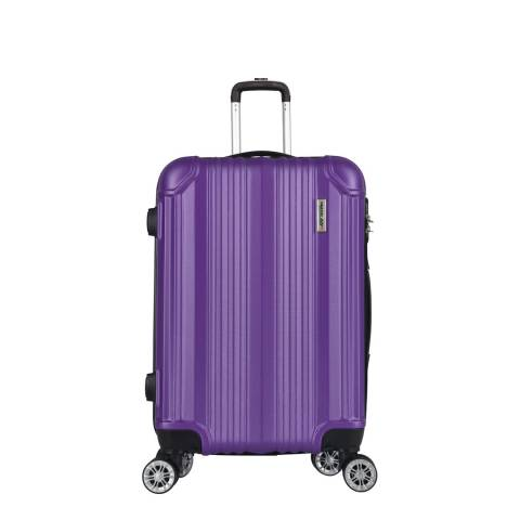 Travel One Purple 8 Wheel Cabin Suitcase