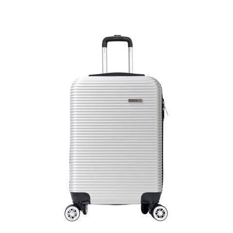 Cabine Size Silver 8 Wheel Levin Suitcase 52cm