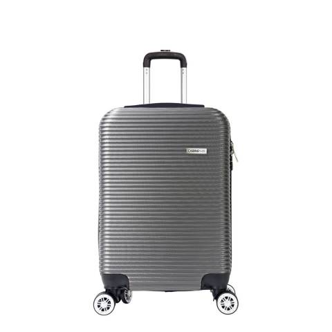 Cabine Size Grey 8 Wheel Levin Suitcase 52cm