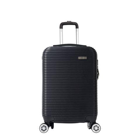 Cabine Size Black 8 Wheel Levin Suitcase 52cm