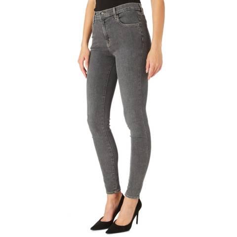 J Brand Dark Grey Maria Skinny Stretch Jeans