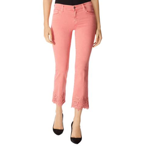 J Brand Pink Selena Bootcut Stretch Jeans