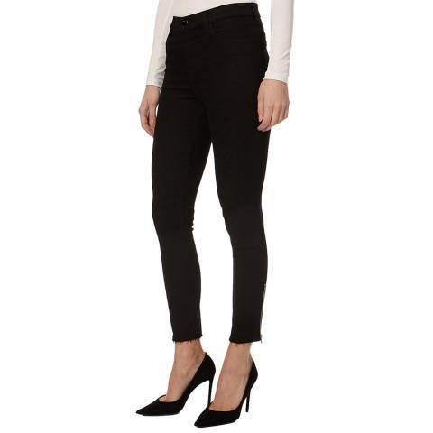 J Brand Black Alana Zip Skinny Stretch Jeans