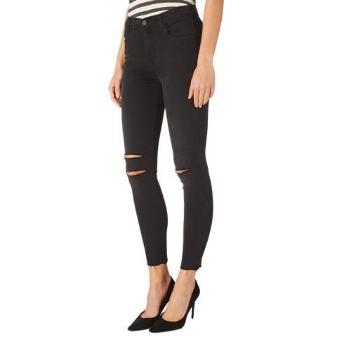 J Brand Black Alana Rip Skinny Stretch Jeans