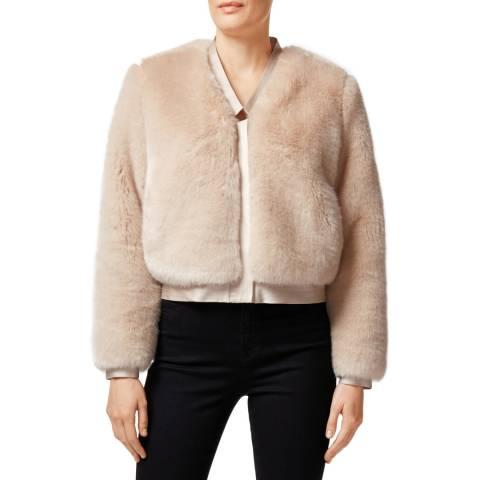 J Brand Stone Ashbey Faux Fur Jacket