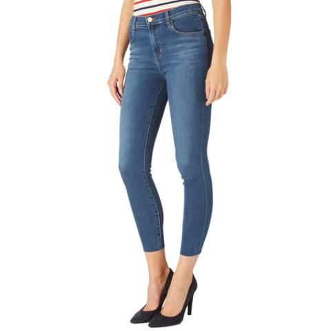 J Brand Blue Alana Raw Skinny Stretch Jeans
