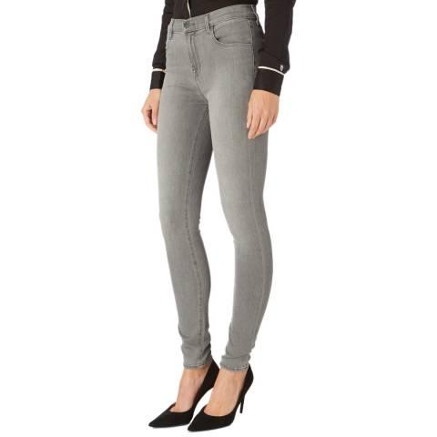 J Brand Grey Maria Skinny Stretch Jeans