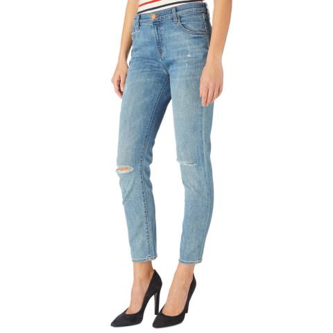 J Brand Blue Johnny Boyfriend Stretch Jeans
