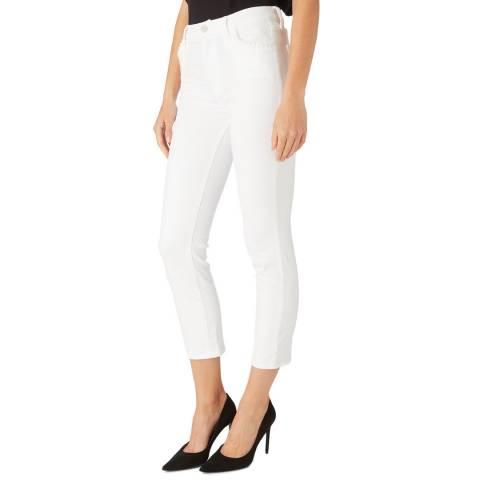 J Brand White Ruby Cigarette Stretch Jeans
