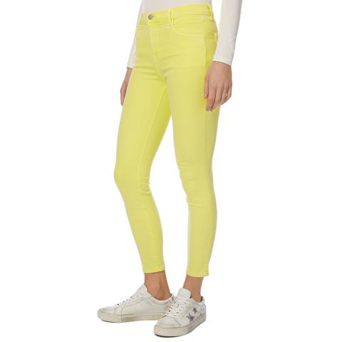 J Brand Yellow Alana Crop Skinny Stretch Jeans
