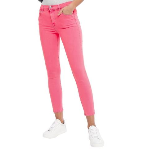 J Brand Red Alana Skinny Stretch Crop Jeans