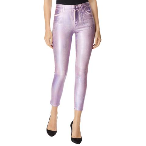 J Brand Pink Alana Skinny Stretch Crop Jeans