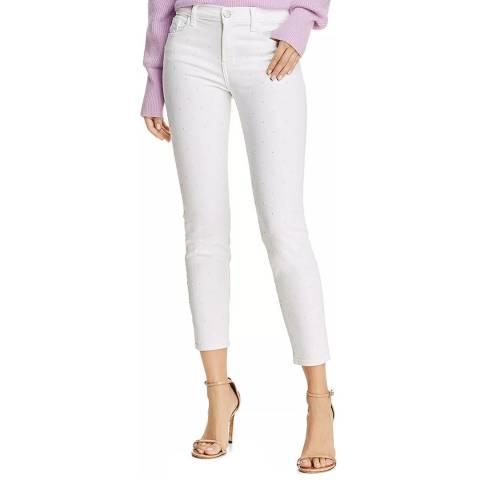 J Brand White 835 Mid Rise Skinny Jeans