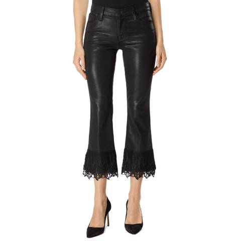 J Brand Black Selena Coated Bootcut Stretch Jeans