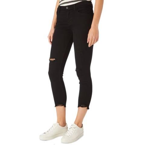 J Brand Black 835 Rip Skinny Stretch Jeans