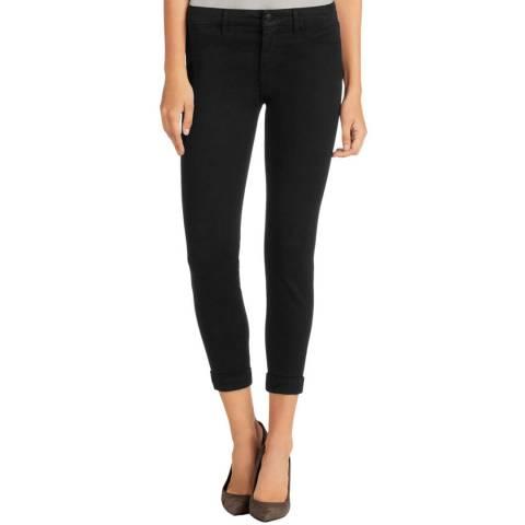 J Brand Black Anja Mid Rise Cuffed Crop Jeans