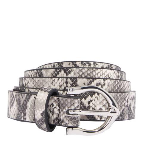 Oasis Neutral Snake Print PU Belt