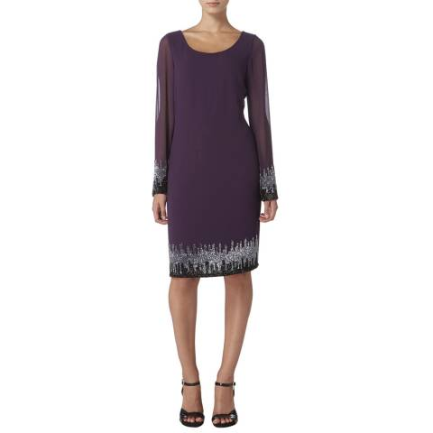 Raishma Purple Embellished Tunic Dress