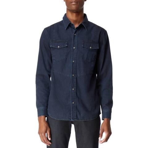 J Brand Dark Indigo Occiden Cotton Shirt