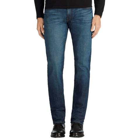 J Brand Mid-Blue Kane Straight Fit Jeans