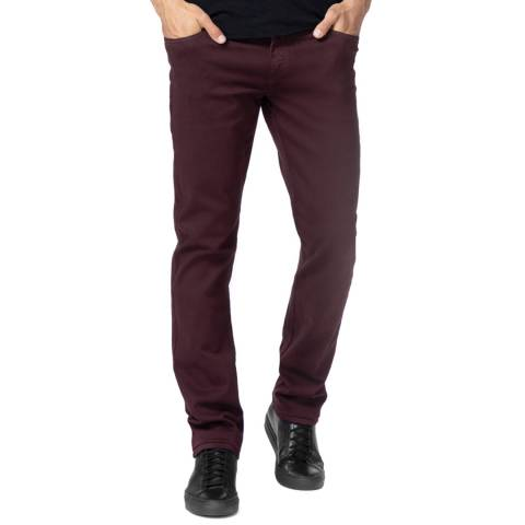 J Brand Deep Red Tyler Slim Fit Jeans