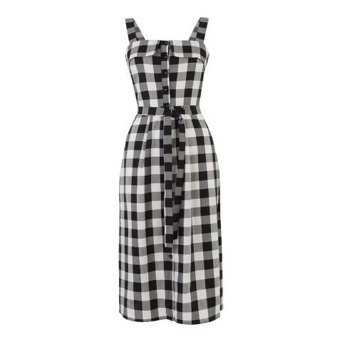 Oasis Gingham Print Bardot Midi Dress