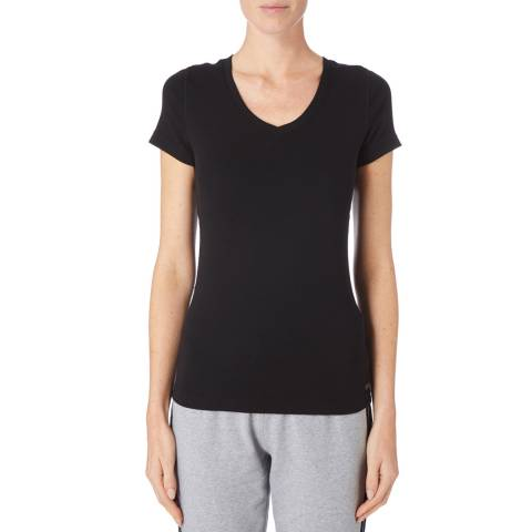 DKNY Black V-Neck Short Sleeve Tee