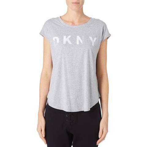 DKNY Grey Sleeveless Rubber Logo Tee