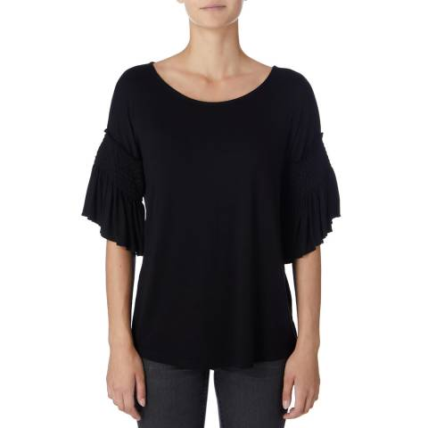 DKNY Black Bell Sleeve Top