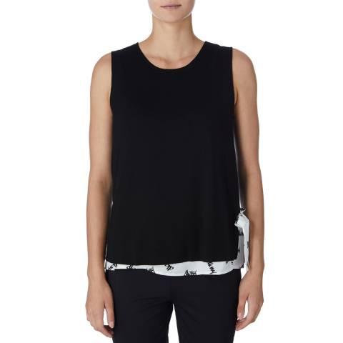 DKNY  Black/White Printed Top