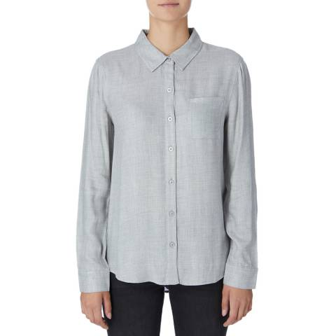 DKNY Grey Buttoned Through Shirt