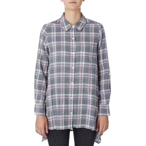 DKNY Grey/Multi Long Sleeve Trapeze Shirt